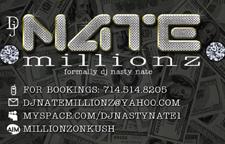 DJ Nate Millionz Rack Card